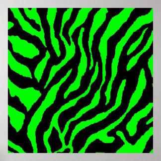 Mönster för tiger för Corey tiger80-tal Retro Poster
