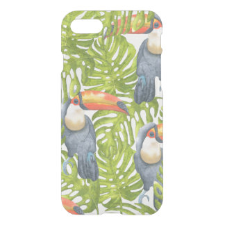 Mönster för träd för Toucan djungelfågel iPhone 7 Skal