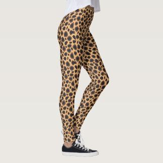 Mönster för tryck för LeopardCheetahbrunt djurt Leggings