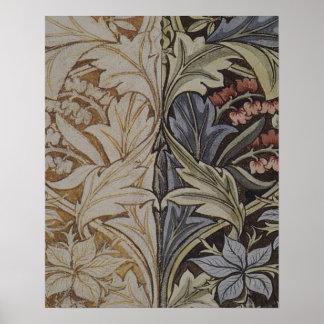 Mönster för tyg för blom- Tapestry för vintage Poster