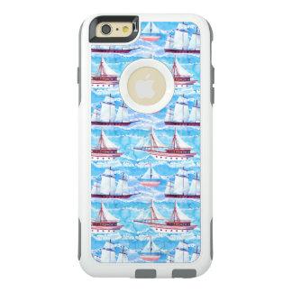 Mönster för vattenfärgseglingfrakter OtterBox iPhone 6/6s plus skal
