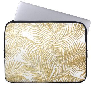 Mönster för växter för elegantt glitter för faux laptopskydd