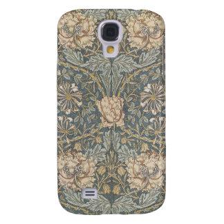 Mönster för VictorianWilliam Morris blom- textil Galaxy S4 Fodral