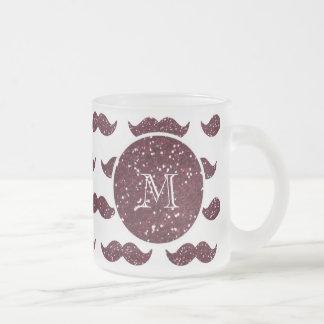 Mönster för vinglittermustasch din Monogram Kaffe Mugg