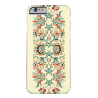 Mönster för vintageblommadesign barely there iPhone 6 fodral