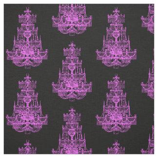 Mönster för vintageshock rosaljuskrona tyg