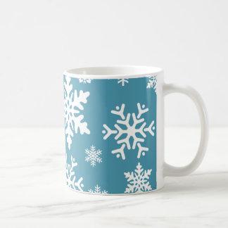 Mönster för vinter för helgdag för kaffemugg