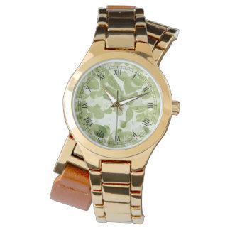 Mönster för vis mangröntlöv, inspirerad vintage armbandsur