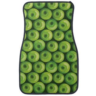 Mönster med gröna äpplen bilmatta