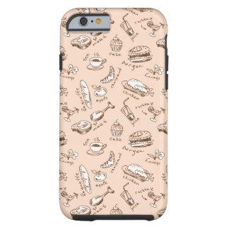 Mönster med mat tough iPhone 6 case