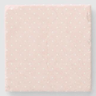 Mönster med vitpolka dots 2 stenunderlägg