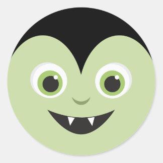 Monster mosar den | vampyren Halloween Runt Klistermärke
