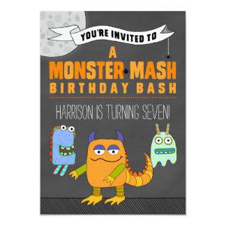 Monster mosar FÖDELSEDAGvåldsamt slaginbjudningar 12,7 X 17,8 Cm Inbjudningskort