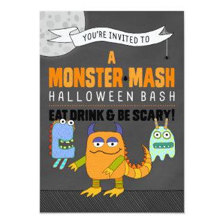 Monster mosar Halloween våldsamt slaginbjudningar 12,7 X 17,8 Cm Inbjudningskort