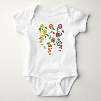 Mönster NO.2: Hängande blommababyJumpsuit T-shirt
