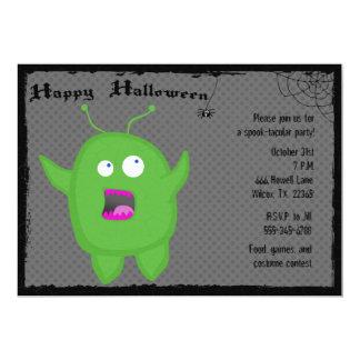 Monster- och spindelhalloween festinbjudan 12,7 x 17,8 cm inbjudningskort