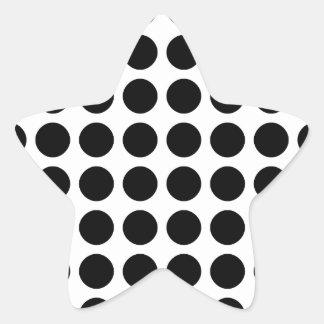 Mönster pricker stjärnformade klistermärken