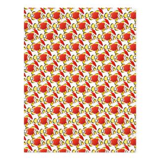 Mönster z för julSanta Clownfish fisk Brevhuvud