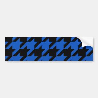 Mönstrade blått och svart Houndstooth Bildekal