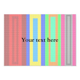 mönstrade rektanglar för coola 12,7 x 17,8 cm inbjudningskort