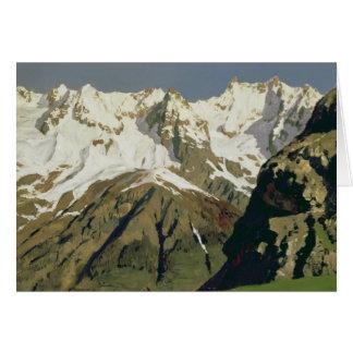 Mont Blanc berg, 1897 Hälsningskort