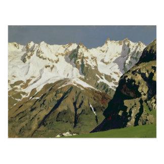 Mont Blanc berg, 1897 Vykort