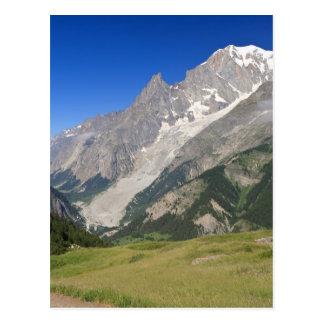 Mont Blanc från vessladalen, italien Vykort
