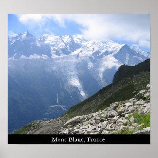 Mont Blanc frankrike Poster