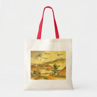 Mont Sainte Victoire av Paul Cezanne, vintagekonst Tygkasse