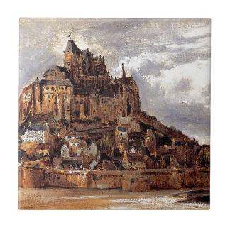 Mont Sanktt-Michel av Theodore Rousseau Kakelplatta