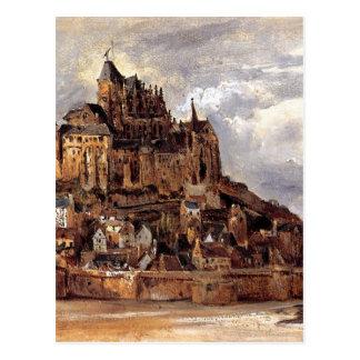 Mont Sanktt-Michel av Theodore Rousseau Vykort