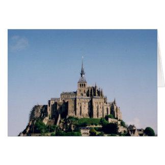 Mont Sanktt Michel, frankrike Hälsningskort