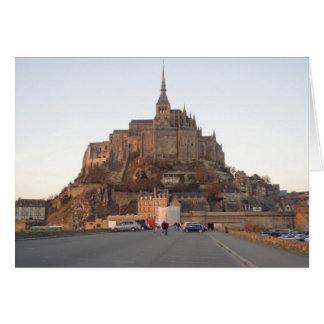 Mont Sanktt-Michel, frankrike Hälsningskort