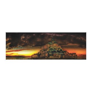 Mont Sanktt-Michel panorama Canvastryck