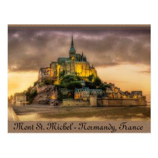 Mont St. Michel, Normandy, frankrike Vykort