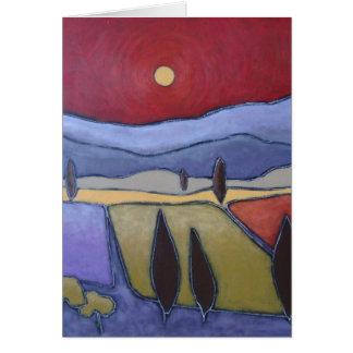 Mont Ventoux II konstkort Hälsningskort