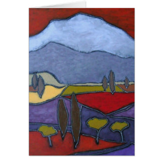 Mont Ventoux mig konstkort Hälsningskort