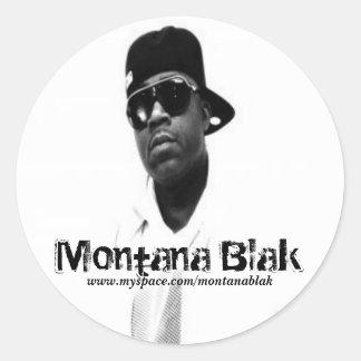 Montana Blak Promoklistermärke Runt Klistermärke