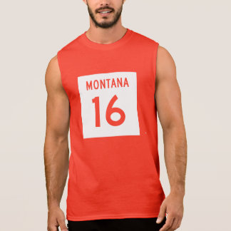 Montana huvudväg 16 sleeveless tröjor