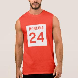 Montana huvudväg 24 sleeveless t-shirt