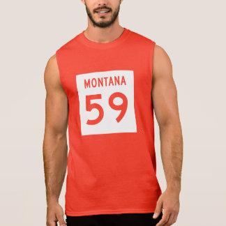 Montana huvudväg 59 sleeveless t-shirt