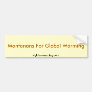 Montanans för global värme bildekal