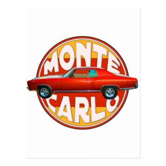 Monte 1970 - carlo orange Peel Vykort