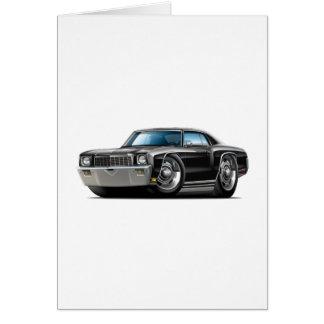 Monte 1971 - carlo svart bil hälsningskort