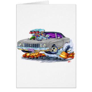 Monte 1972 - carlo grå färgbil hälsningskort