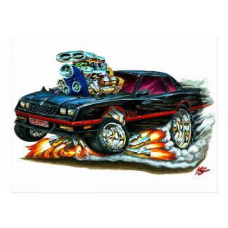 Monte 1983-88 - carlo svart bil vykort