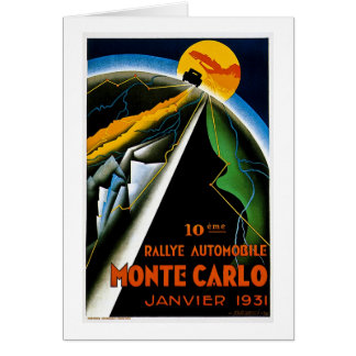 Monte - carlo 1931 hälsningskort
