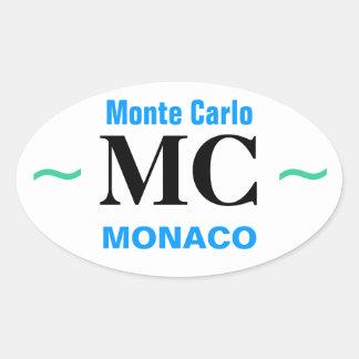 MONTE - CARLO klistermärkear (4) Ovalt Klistermärke
