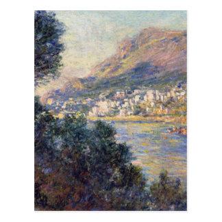 Monte - carlo som ses från Roquebrune av Claude Vykort
