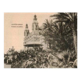 Monte - carlo theatre- och trädgårdkopia 1909 vykort